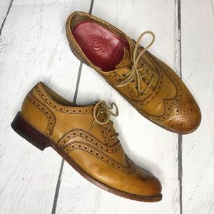 Grenson Wingtip Brogue, Tan, Leather Shoes